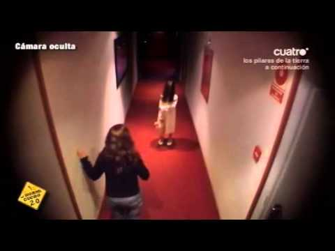 Little girl in white dress freaks out hotel guests