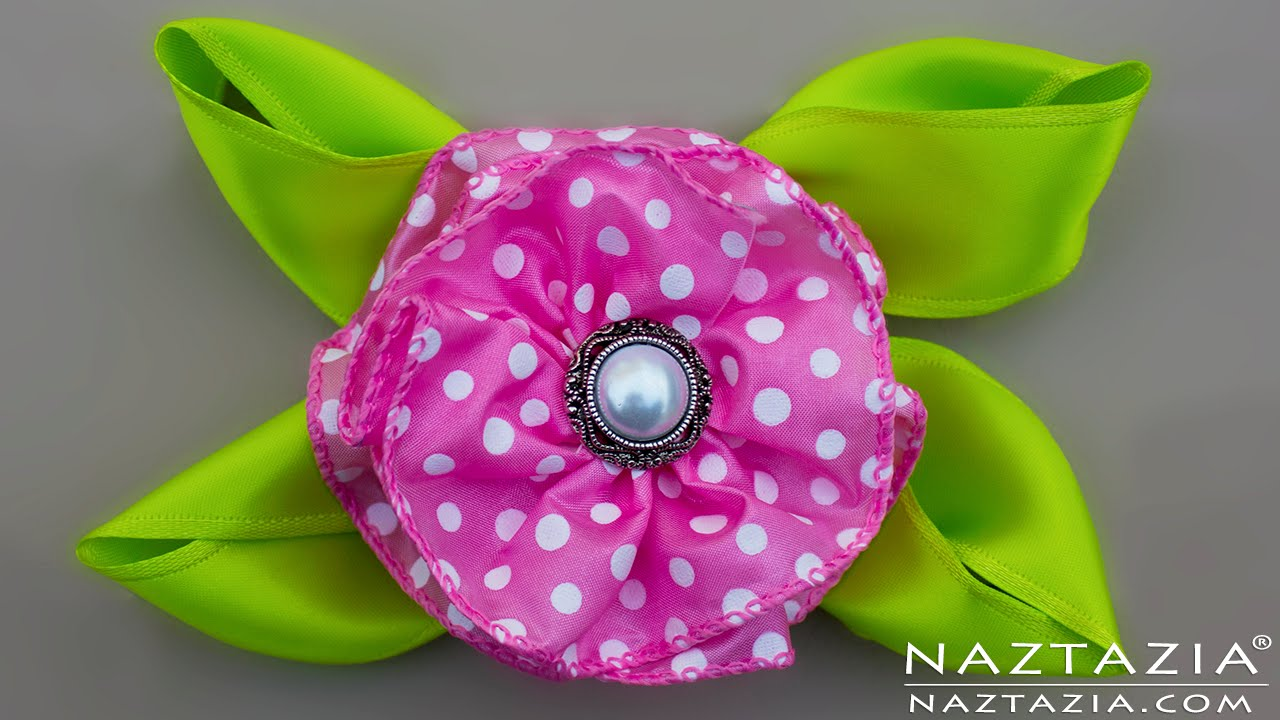 Diy easy ribbon flower no sew simple for beginners youtube jeuxipadfo Images