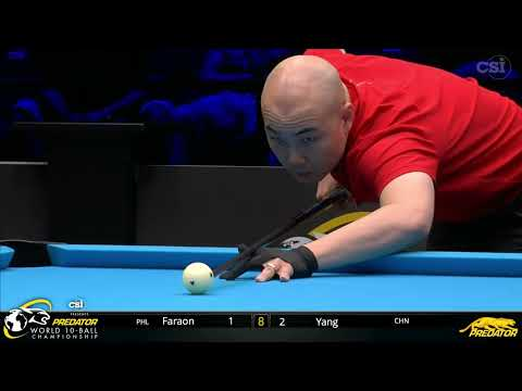 2019 Predator World 10 Ball Championship: Fan Yang Vs Raymund Faraon