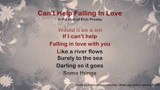 Can't Help Falling In Love - ProTrax Karaoke Demo
