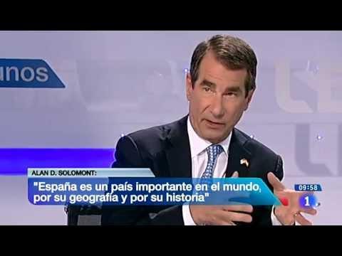 Entrevista al embajador de EE.UU. en España, con interpretación de Sergio Cordeiro
