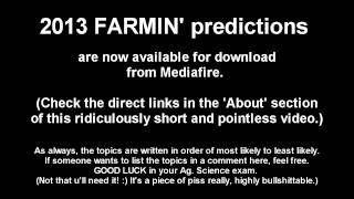Farmo [2013 Exam Tips #13] (leaving Cert Ag. Science Predictions)
