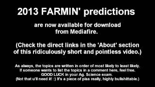Farmo [2013 Exam Tips #13] (leaving Cert Ag. Science Predictions)