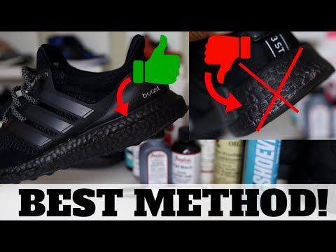 1 YEAR AFTER WEARING: ADIDAS ULTRA BOOST TRIPLE BLACK! BEST WAY TO PAINT ADIDAS BOOST SOLVED!