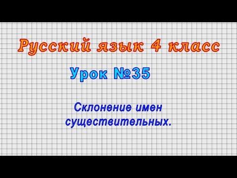 Склонение имен существительных 4 класс видеоурок