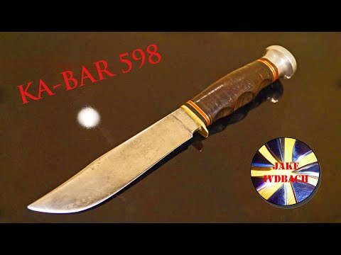 Antique KA-BAR 598 Boy Scout Knife Union Cutlery Olean Marble's Expert Collection Pfadfindermesser