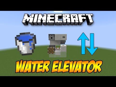 Minecraft Most Simple Redstone Water Elevator Tutorial Ge