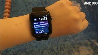 Как себя чувствуют Apple Watch series 3 под водой