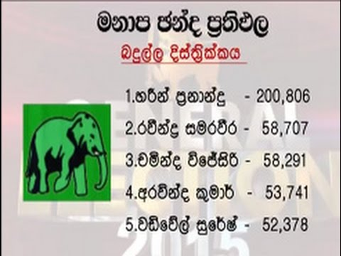 Preferential votes- General Election 2015