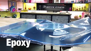 ice Table of Bent Epoxy Resin! Ледяной Стол из гнутой Эпоксидной смолы