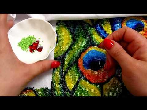 Как вышивать бисером на ткани с рисунком