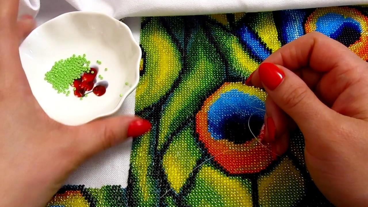Как вышивать бисером по ткани без рисунка?