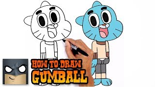 How to Draw Gumball- Step by Step Video Tutorial