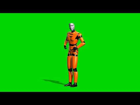 i robot animation - green screen thumbnail