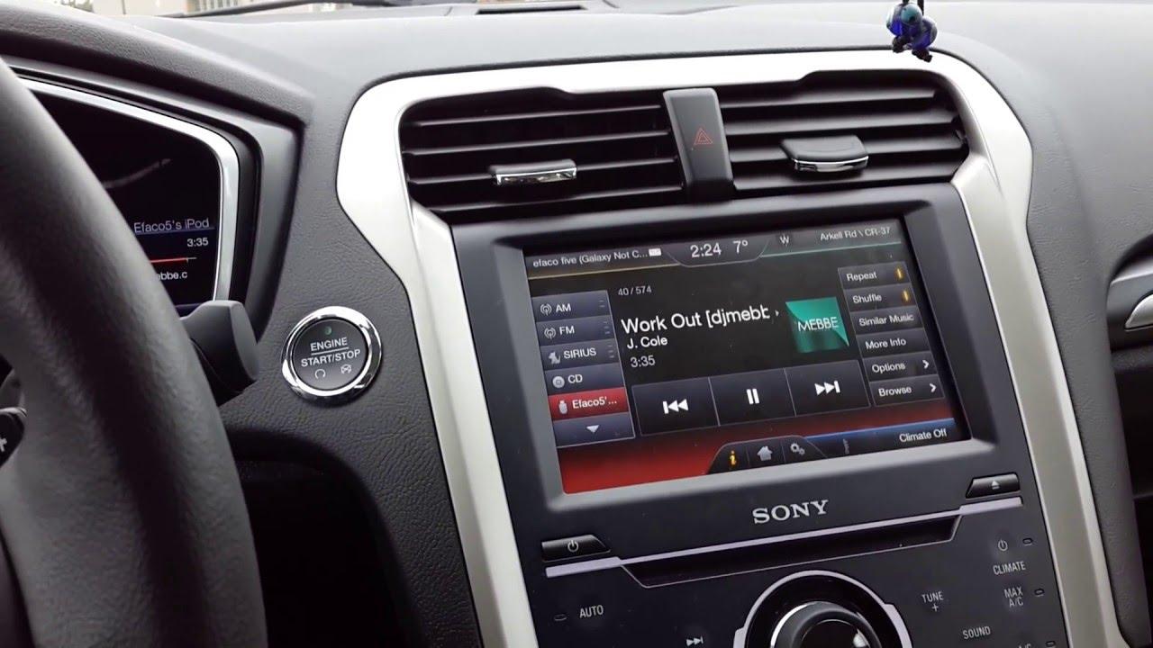 2014 Ford Fusion Titanium Audio System (kenwood/Sony)