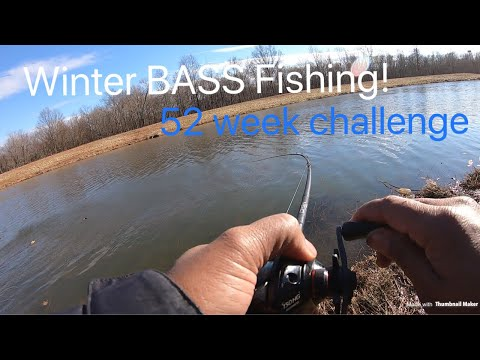 Fishing 3 Ponds in a DAY For Winter Bass!!  Watch until end for giveaway!!!