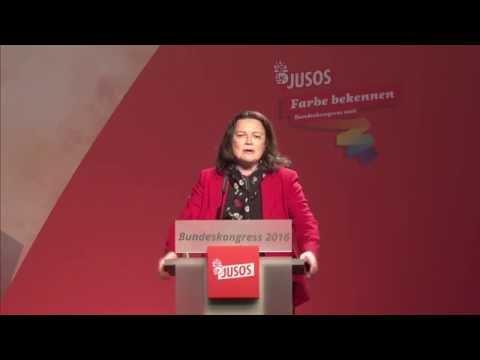 Juso-Bundeskongress 2016 in Dresden - Rede Andrea Nahles