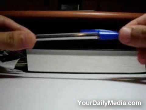 Фокус с ручкой в руках на видео - Секреты фокусов