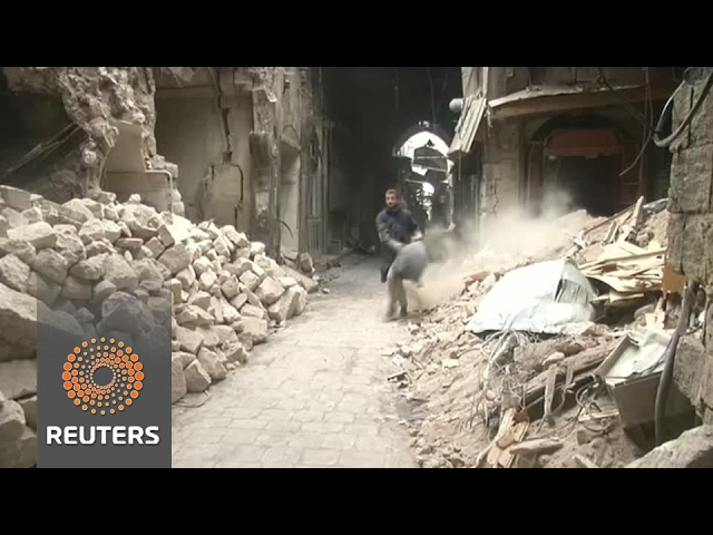 Aleppo's citizens work to restore battered heritage