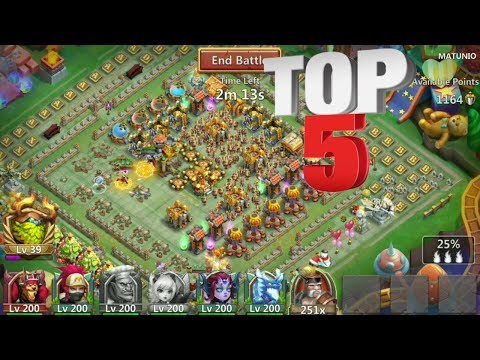 Sniping Top 5 Bases L Guild Wars L Castle Clash