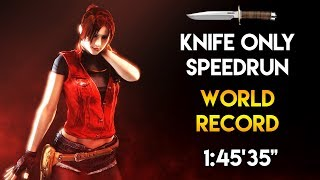 "Resident Evil: CODE: Veronica X HD - Knife Only Speedrun - 1:45'35"" (World Record)"