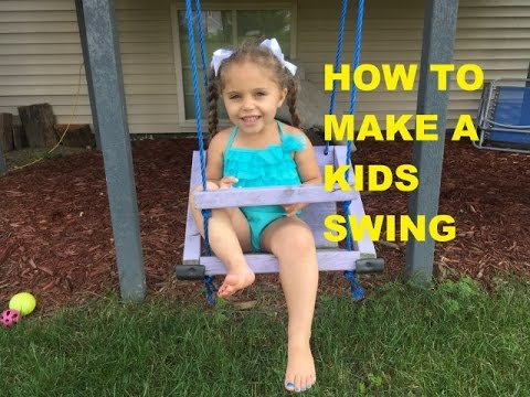 How To Make A Homemade kids swing From scrap wood very easy concept