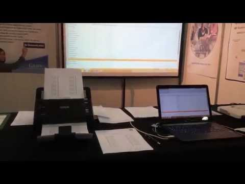 Grading Tests at EduTECH 2014 with an Epson DS-860 & Remark Test Grading Edition