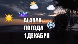 Аланья Турция Какая погода в первый день зимы Alanya
