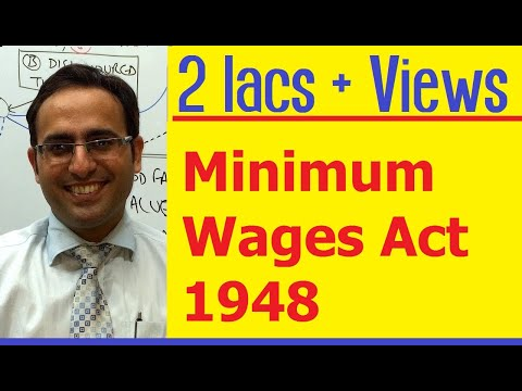 Introduction to Minimum Wages Act 1948 (Video-1) || for CS, CMA & LL.B