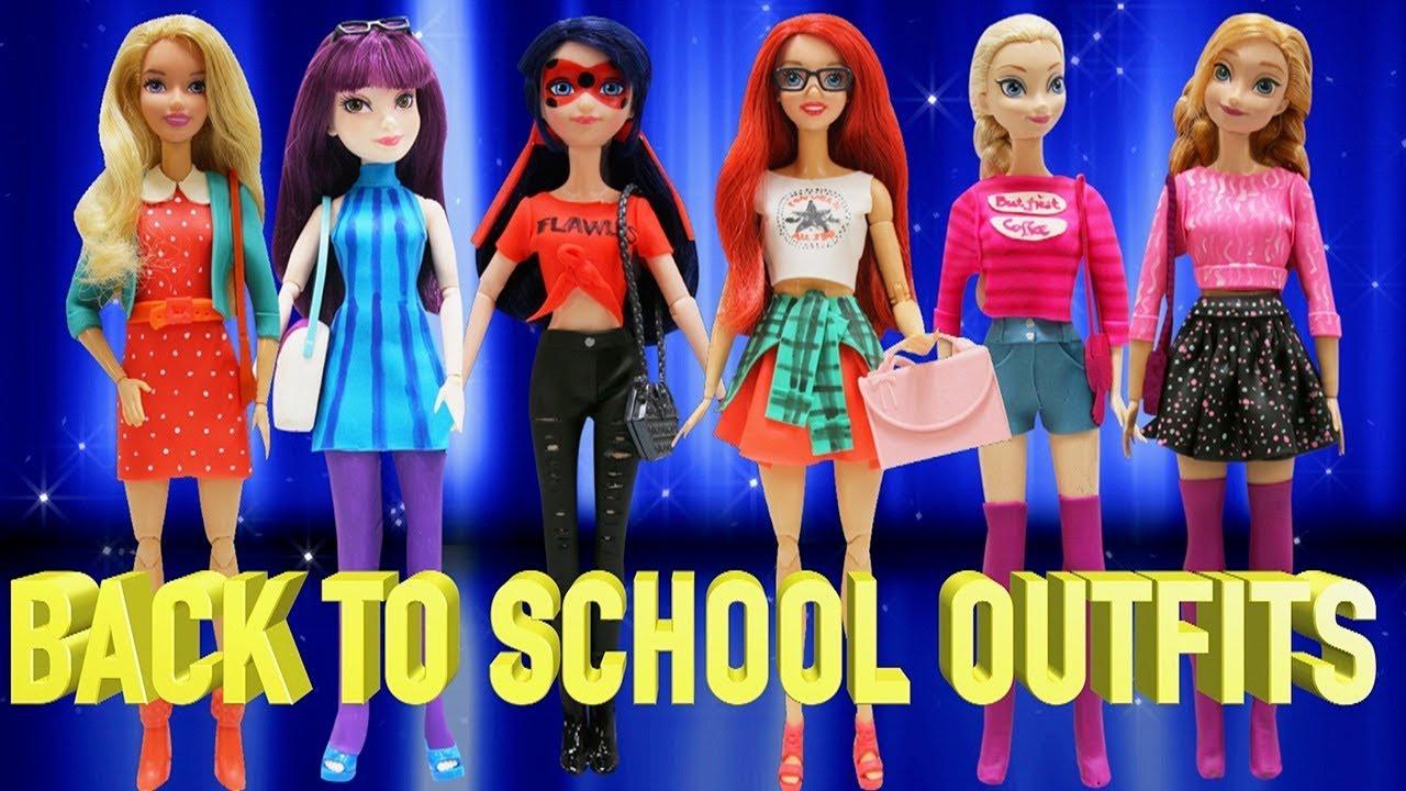 Play Doh Back To School Outfits Ladybug Mal And Disney Princess