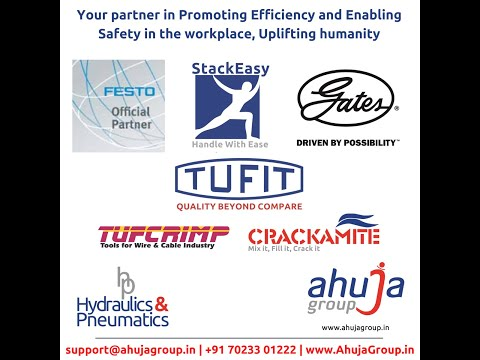OUR MISSION AT AHUJA GROUP:  To be the first choice partner for all customers looking for industrial solutions and to be widely recognised for our innovative products and services as well as our respect for society.  To build trust and confidence with customers by delivering outstanding quality products and services which add real value to their business.  To respect the expectations and ambitions of employees, stakeholders and suppliers through a never ending search to improve.  Email: support@ahujagroup.in | Call: +91 9549641000 | www.AhujaGroup.in | WhatsApp: +91 82093 81783