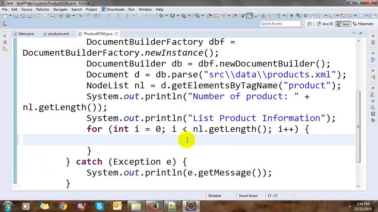 Read Xml Using Dom In Java Youtube
