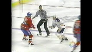 Rob Ray vs Donald Brashear & Craig Rivet vs Brent Hughes & Lyle Odelein & Scott Pearson