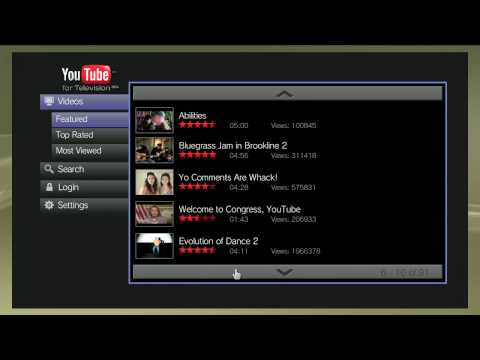 PS3 Browser YouTube 10 foot UI