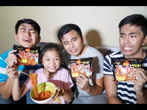 KOREAN SPICY NOODLE CHALLENGE! W/ KAYCEE