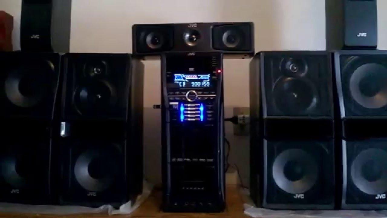 Mini Component System Jvc Dx U10 1000 Wts Rms Youtube