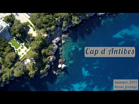 Cap d'Antibes beach and Antibes Marina (Côte d'Azur 2019)