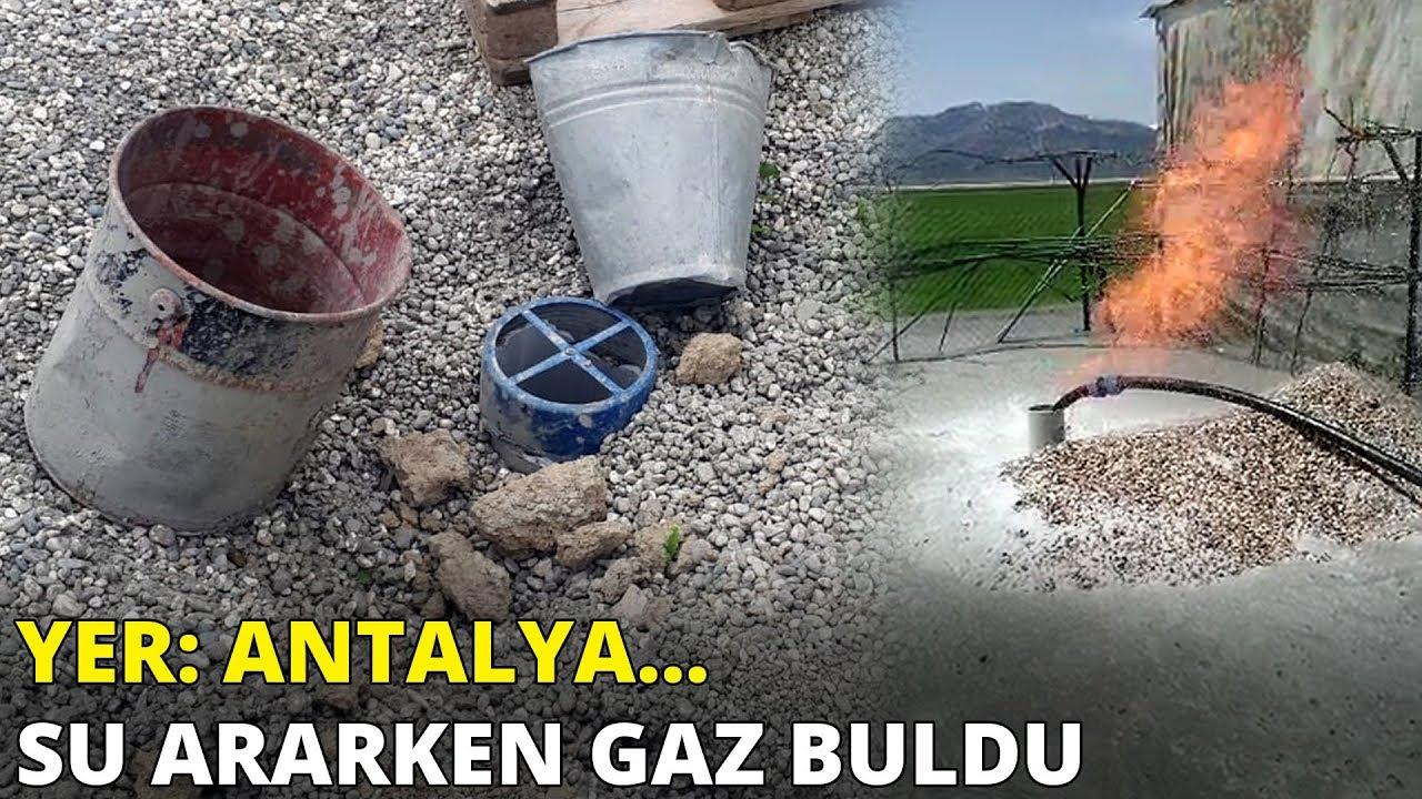 Yer: Antalya... Su ararken gaz buldu
