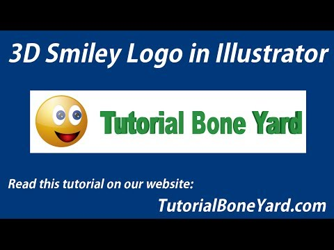3D Smiley Illustrator Logo Design