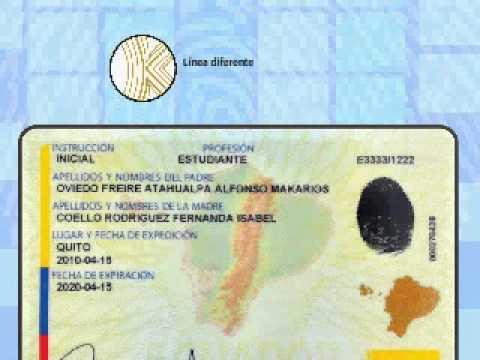 Nueva Cédula Ecuador
