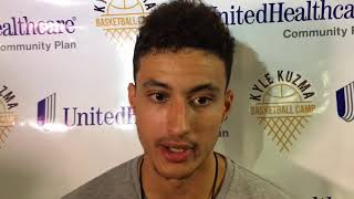 Kyle Kuzma talks about Lakers signing LeBron James