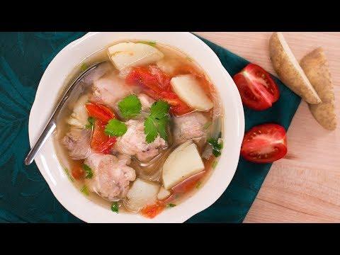 Thai Chicken & Potato Soup Recipe ชุปไก่มันฝรั่ง | Thai Recipes