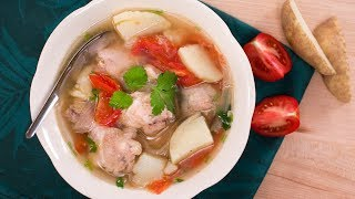 Thai Chicken & Potato Soup Recipe ซุปไก่มันฝรั่ง | Thai Recipes