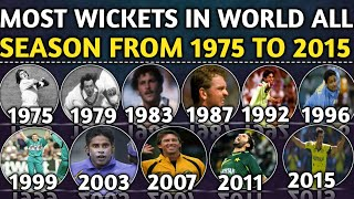Most Wickets In ICC Cricket World All Season From 1975 to 2015 | Most Wicket In Single Season in WC