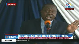 CS Matiang'i gives shocking figures on betting in Kenya, youths affected