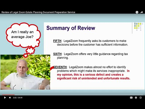 Review of Legal Zoom Estate Planning Document Preparation Service