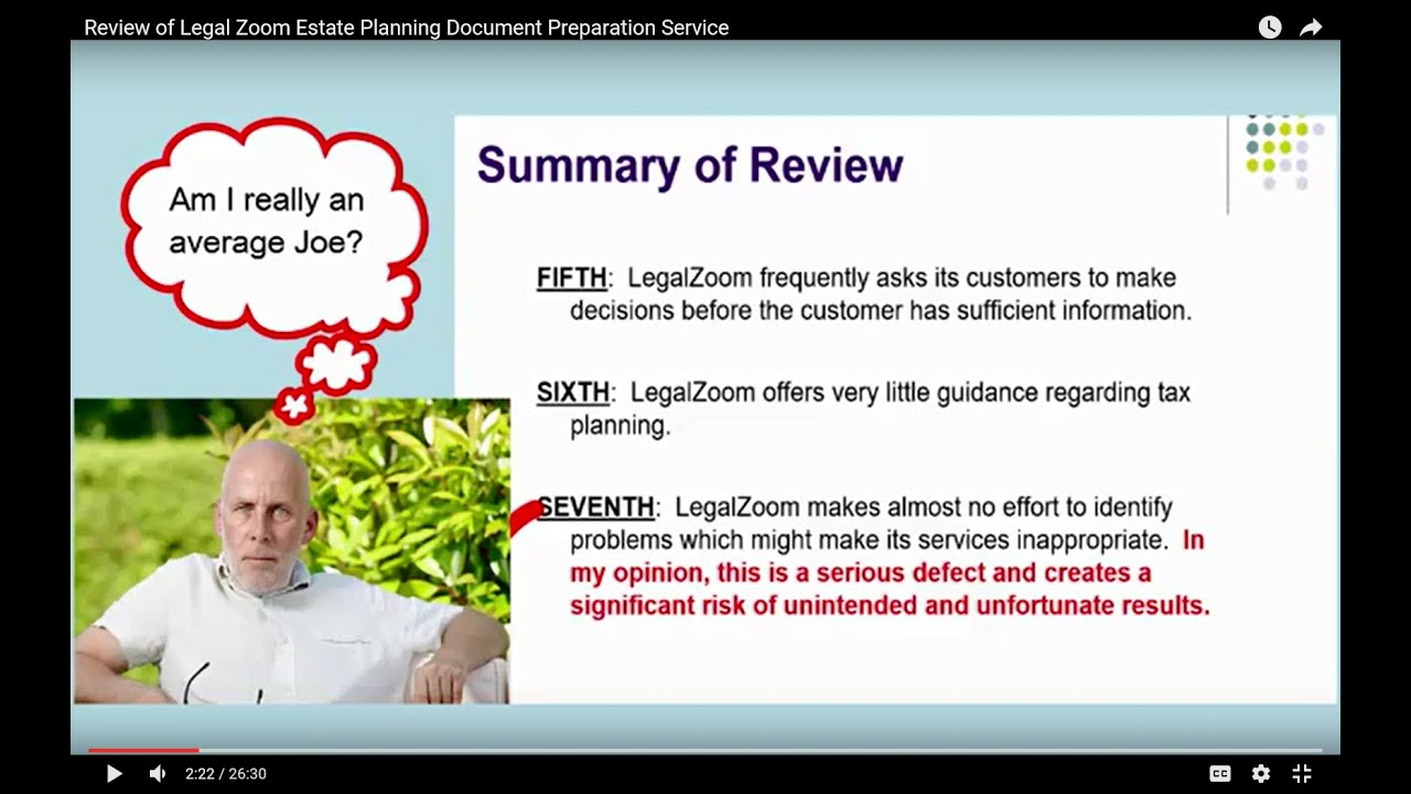 Review Of Legal Zoom Estate Planning Document Preparation Service - Legal document preparation services