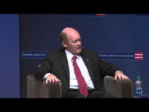 Senator Coons discusses law and politics at the National Constitution Center