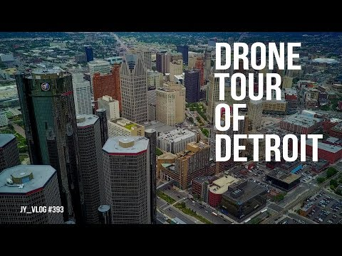 Drone Tour of Downtown Detroit