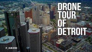 Drone Tour of Downtown Detroit